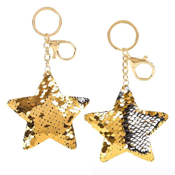 "Best Place To Buy Key Chain, 5"" Flip Sequin Star Online - Gulf Coast Beads"