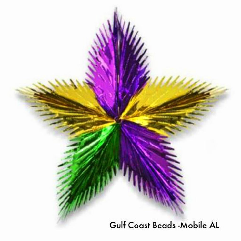 Best Place To Buy Starburst, 16in Hanging Mardi Gras Leaf 1 piece Online - Gulf Coast Beads