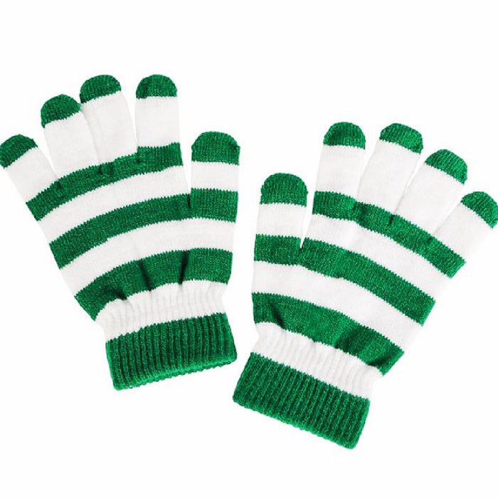 Gloves, Striped Irish 1 Pair, Apparel-GulfCoastBeads.com