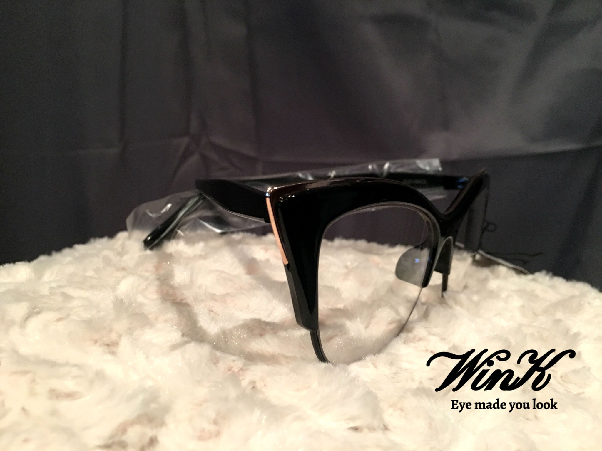 Fashion Sleek Sunglasses with Clear Lens