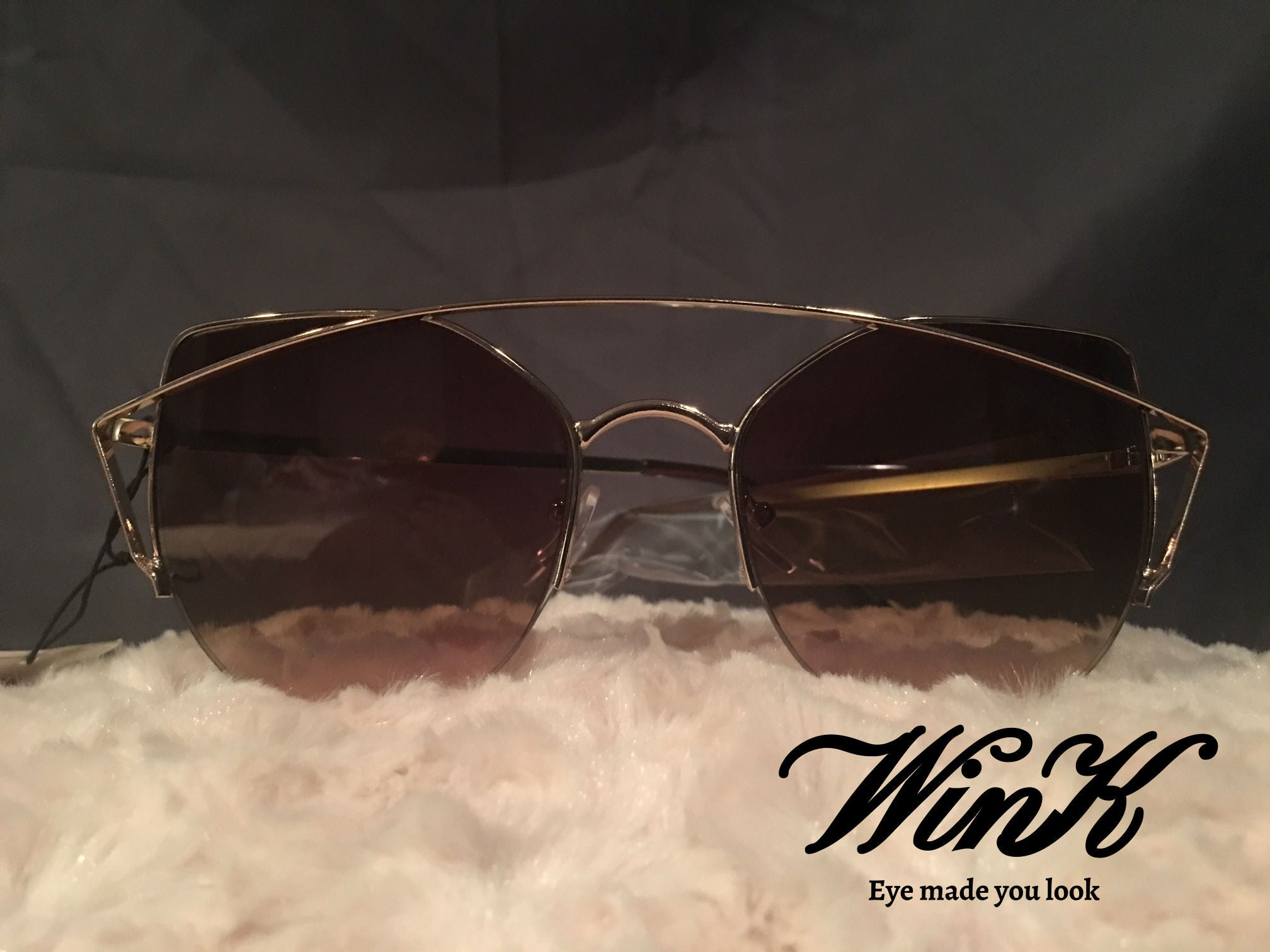 Ombre Flat Aviator Sunglasses