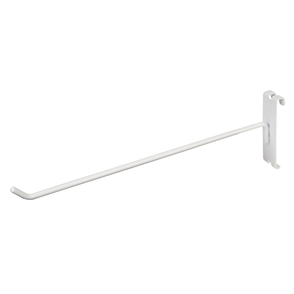 "DISPLAY HOOK, FOR GRID, 12""L, 1/4"" DIA WIRE, WHITE"