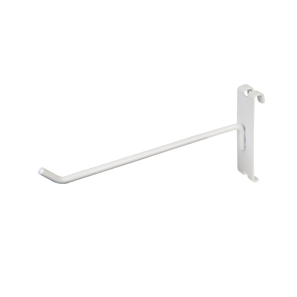 "DISPLAY HOOK, FOR GRID, 8""L, 1/4"" DIA WIRE, WHITE"
