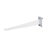 "Shelf Bracket W/ Lip, For Grid, 12"", White"