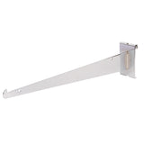 "Shelf Bracket W/ Lip, For Grid, 14"", Chrome"