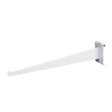 "Shelf Bracket W/ Lip, For Grid, 14"", White"