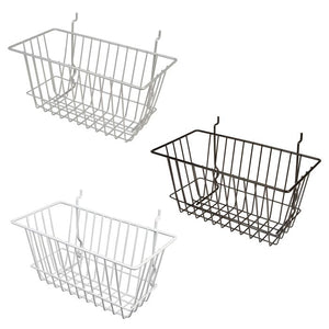 "All Purpose Narrow Retail Display Basket, 12"" x 6"" x 6"", sold in sets of 6, price ea"