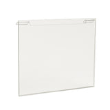 "Signholder, For Grid, 11""W X 8-1/2""H, Plexi"