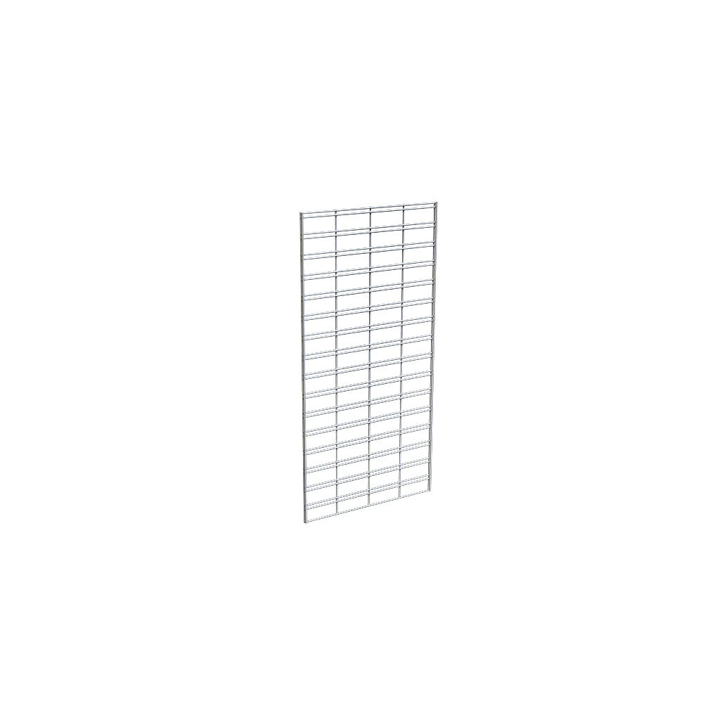 "Slatgrid Panel,  2' X 4', Wire 3"" X 6"" O.C., Chrome"