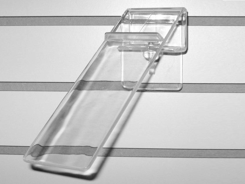 Shoe Display With Heel Rest, For Slatwall, Swivels, Clear Acrylic