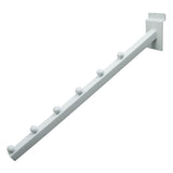 "Waterfall, For Slatwall, 16"" Sq Tube, W/ 7 Balls, White"