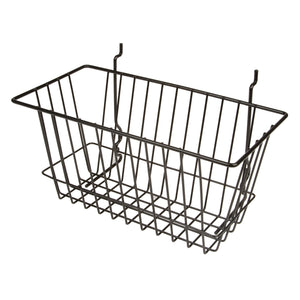 Elite Sourcing's mutli-purpose basket is the perfect addition to your slatwall or pegboard display. Organize your retail display easily and effectively.