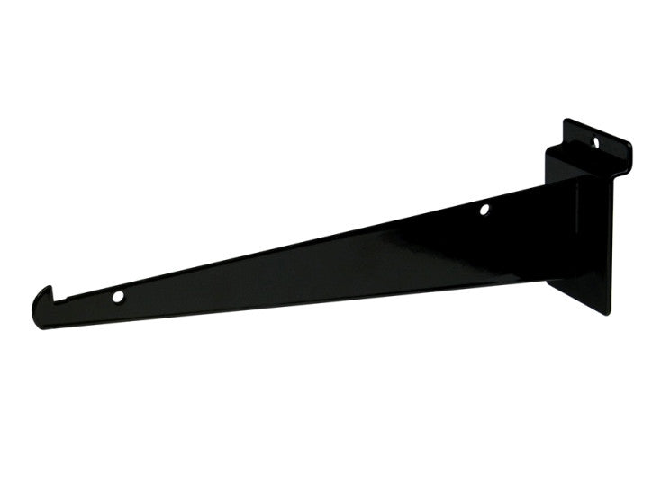 "Shelf Bracket W/ Lip, For Slatwall, 10"", Black"