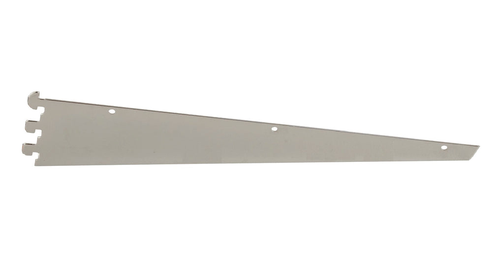 "Shelf Bracket, for B-Line slotting, 22"", Friction Fit, Satin Zinc"