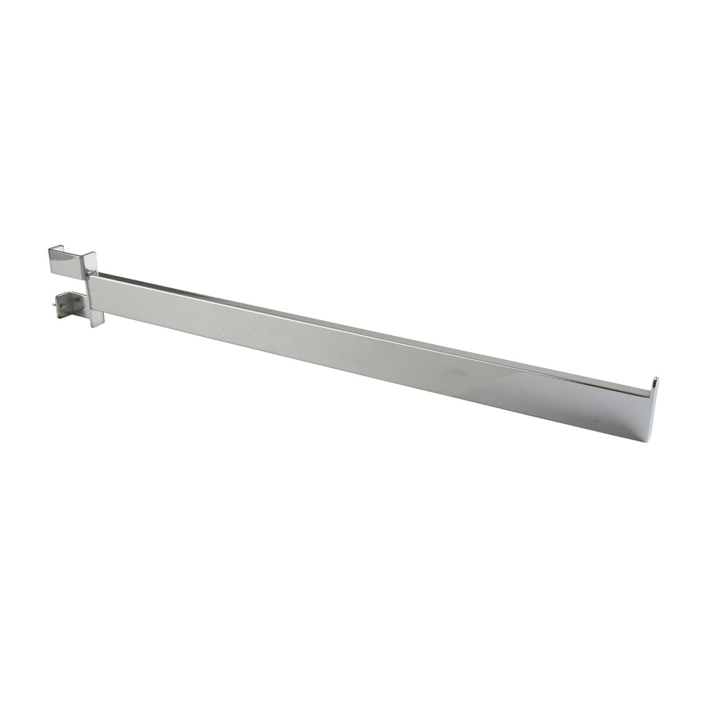 "Rectangle Tube Faceout, 22"" with end stop, chrome"