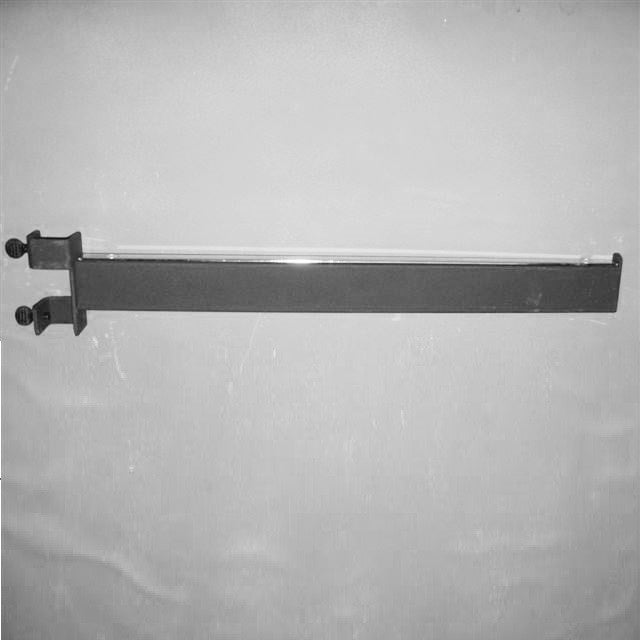 "Add-On Arm, For Sq Tube Vert Mount, 16"" Rect Tube Faceout W/ Stop, Text Black"
