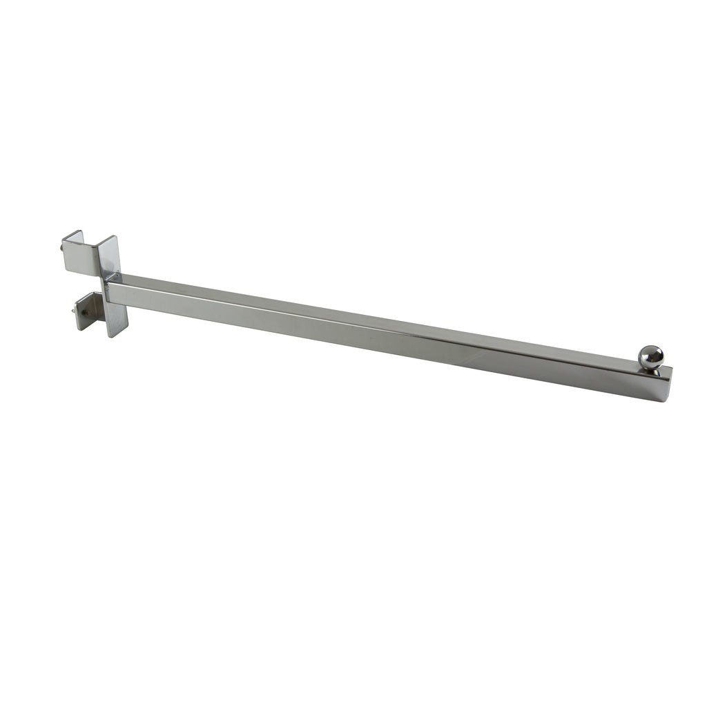"Add-On Arm, For Sq Tube Vert Mount, 16"" Sq Tube Faceout W/ Ball Stop, Chrome"