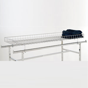 "Topper, 22""W X 54""L Grid Basket, For Double Bar Racks, Chrome"
