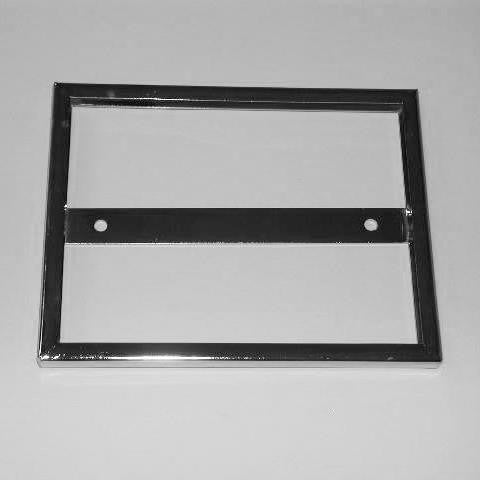 "Signholder, Wallmount, 7""W X 5-1/2""H, Mitered Corners, Chrome"