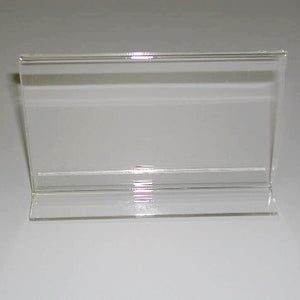 "Signholder, Counter Top,, 3-1/2""H X 5-1/2""W, Bottom Load, Plexi"