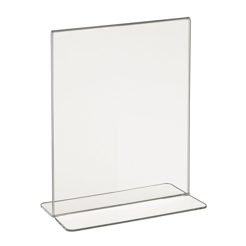 "Signholder, Counter Top, 7""H X 5-1/2""W Bottom Load Plexi"