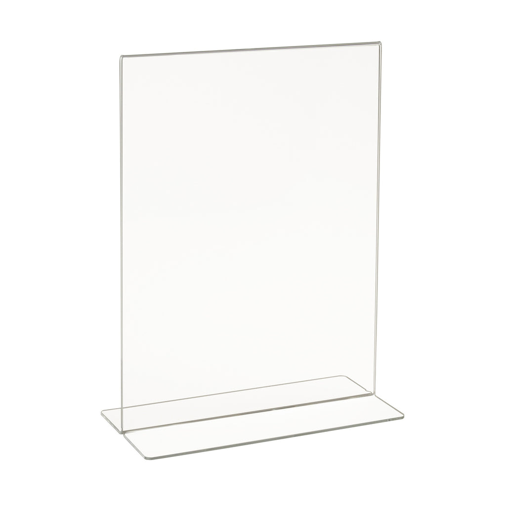 "Signholder, Counter Top, 11""H X 8-1/2""W Bottom Load Plexi"
