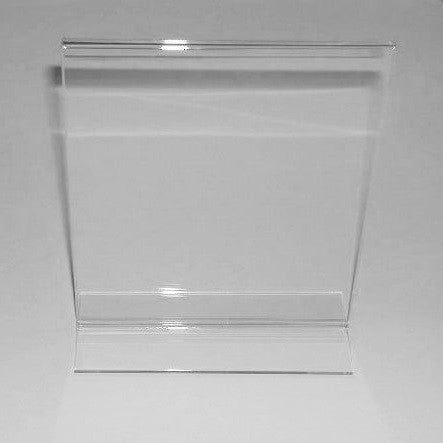 "Signholder, Counter Top, 7""H X 5-1/2""W Top Load Plexi"