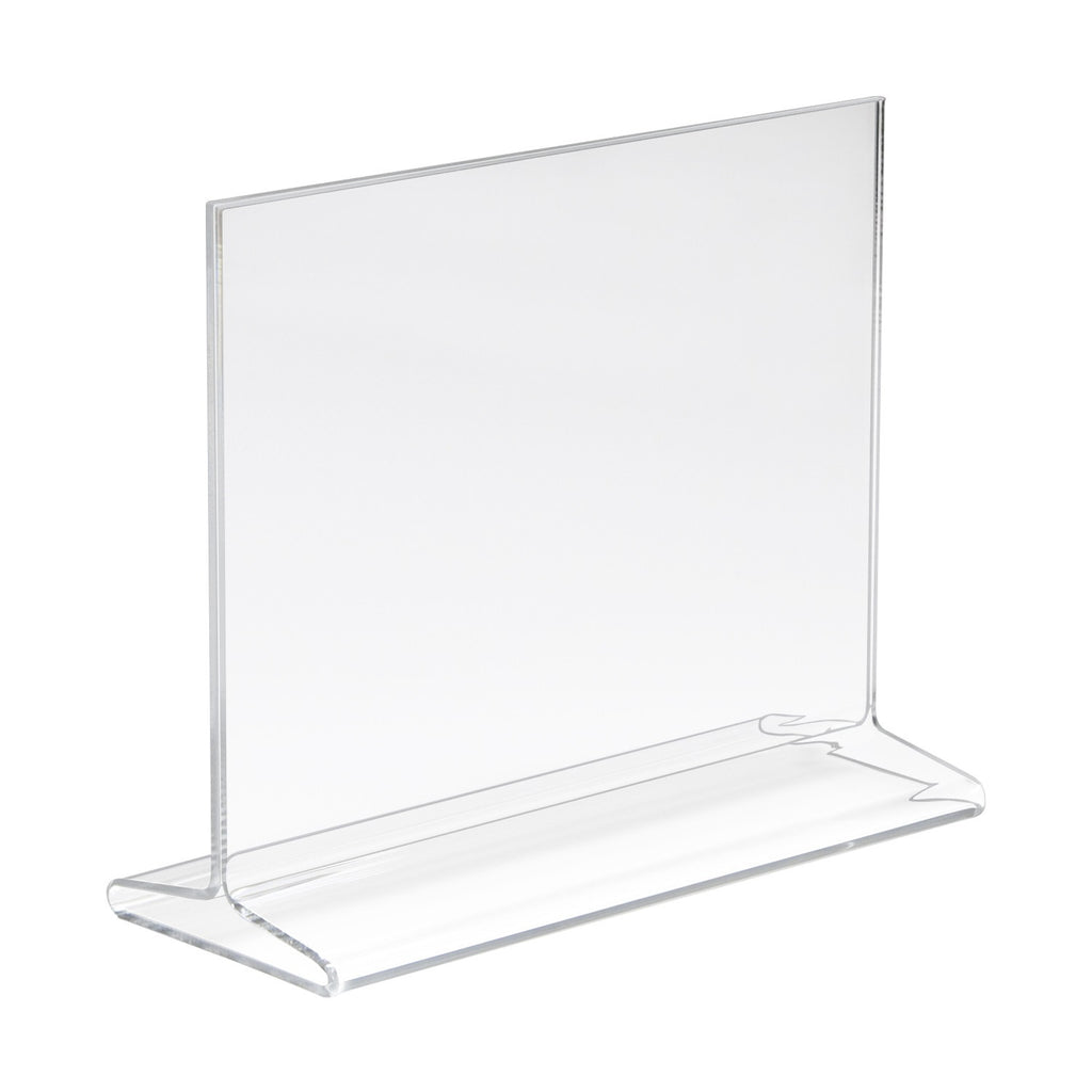 "Signholder, Counter Top, 5-1/2""H X 7""W Top Load Plexi"