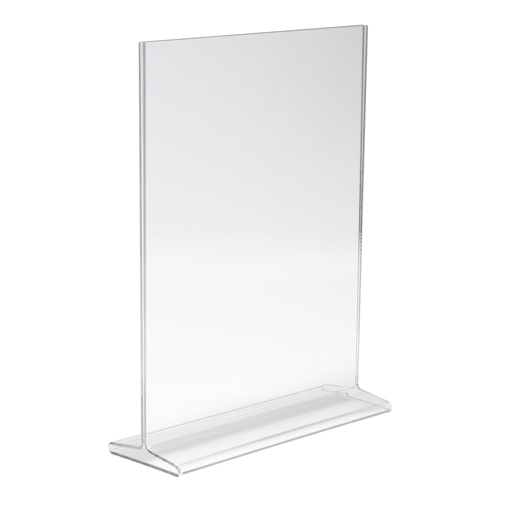 "Signholder, Counter Top, 11""H X 8-1/2""W Top Load Plexi"