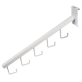 "Waterfall, For Grid, 16"" Sq Tube, W/ 5 Hooks, White"