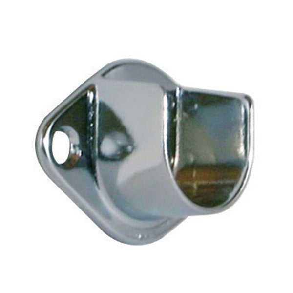 "Hangrail ""U"" Flange for 1"" Diameter Round Tube, Chrome"