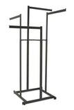 "4-Way Hi-Cap Rack with Rect Uprights and 22"" Rect Tube Straight Arms in Black"