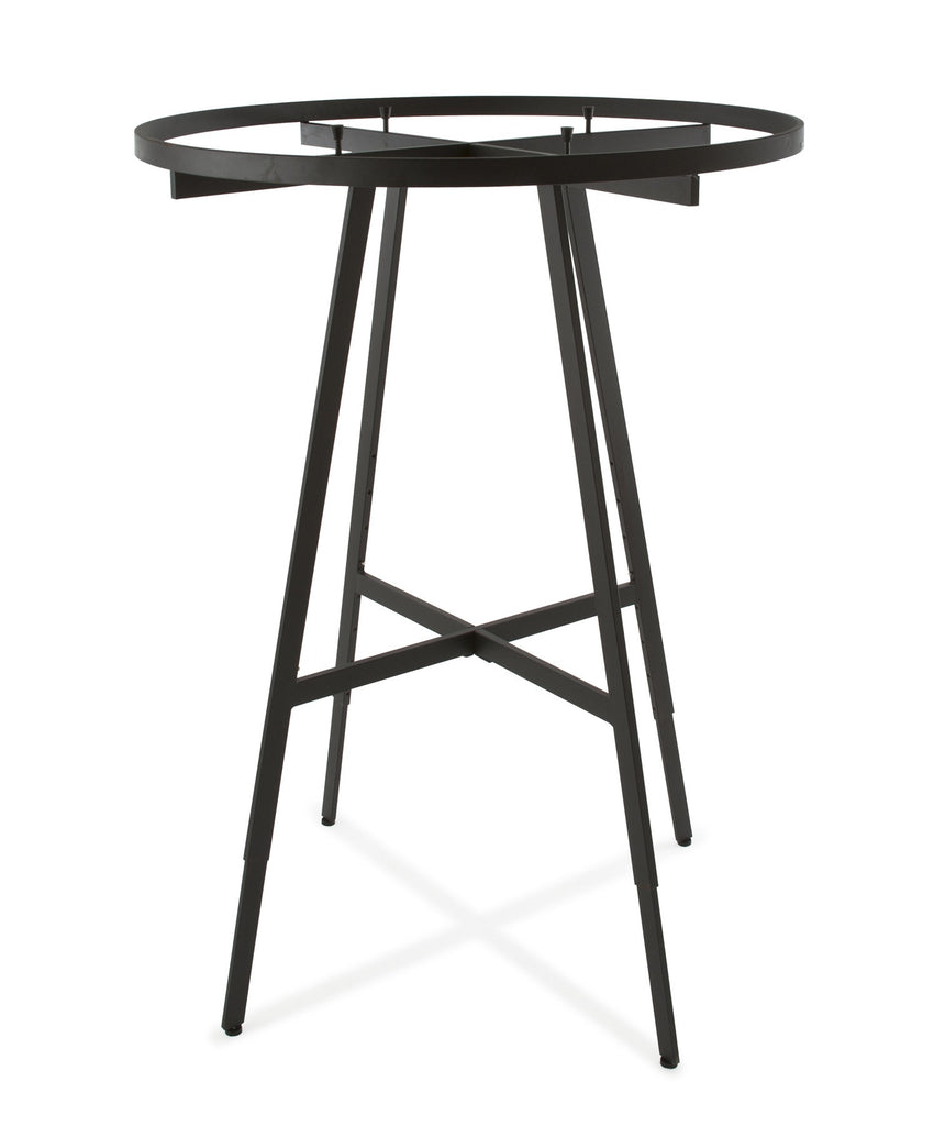 "Round Rack, 42""D Rectangular Tube, Black"