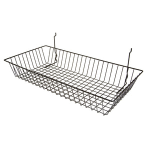 "Capitol Hardware All Purpose Shallow Retail Display Basket, 24"" x 12"" x 4"", Black"