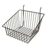 "Capitol Hardware's All Purpose Shallow Front Retail Display Basket, 12"" x 12"" x 8"", Black"