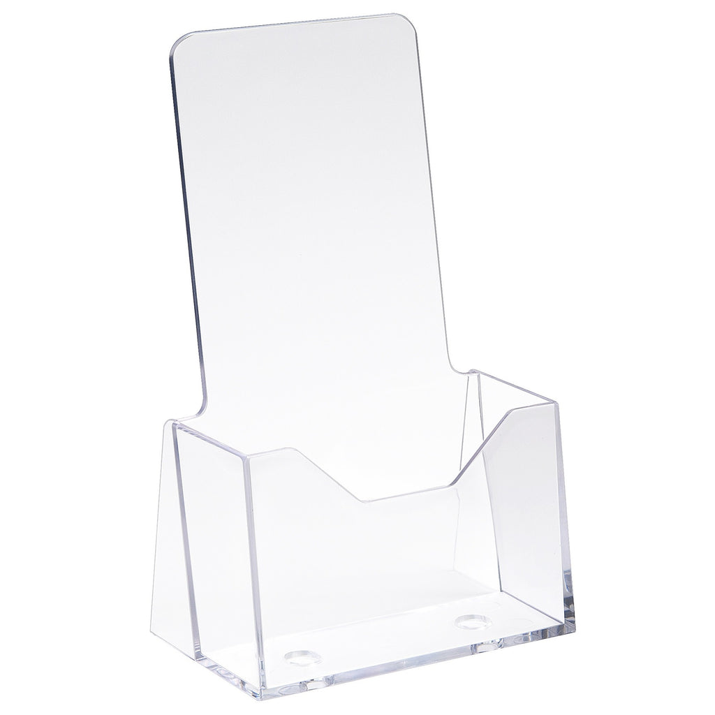"Countertop Literature Holder, 4""W X 9""H, Clear"