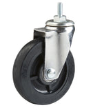 "Casters, 5"", Single Wheel, non locking, Chrome, for Wire Shelving Units"