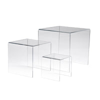 Acrylic Risers, Set Of 3, Measuring 3