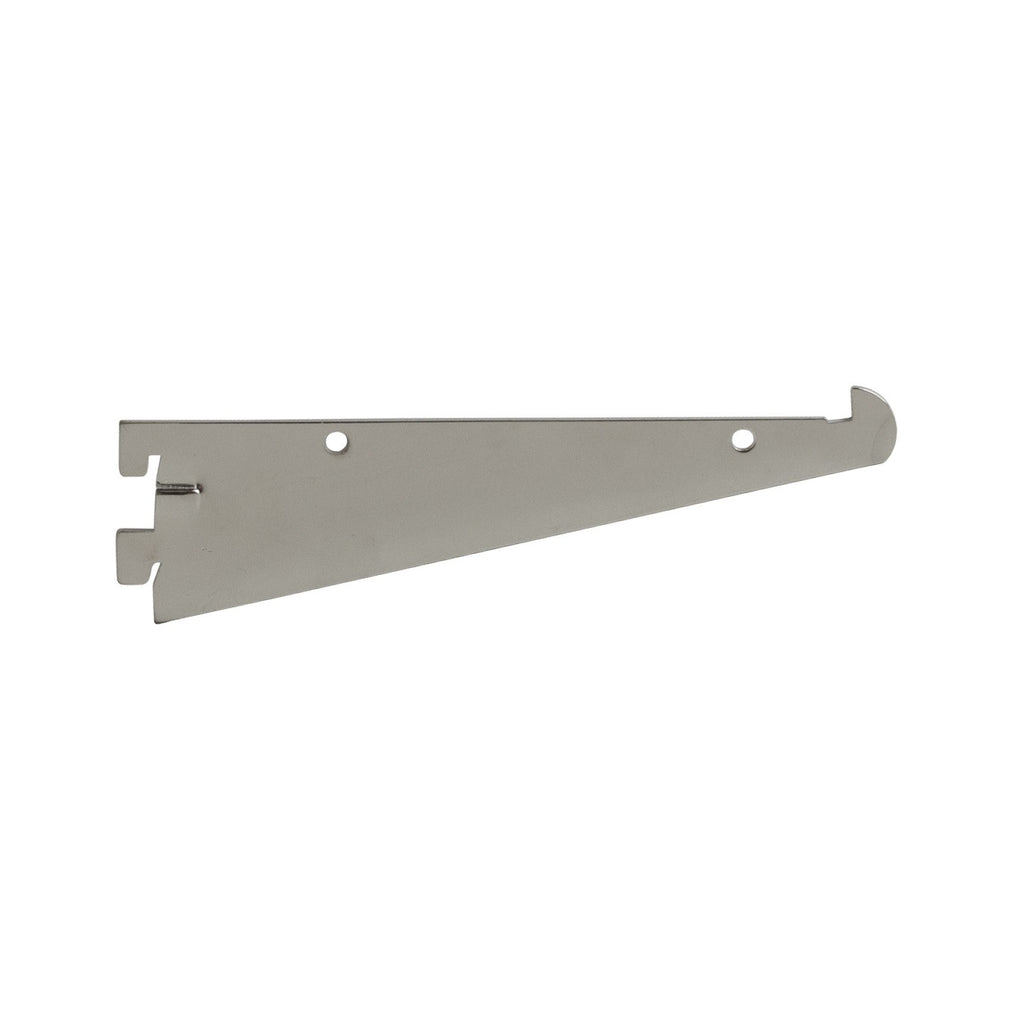 "Shelf Bracket for A-Line, 8"", W/ Front Lip, Friction Fit, Chrome"