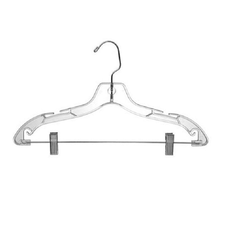 "Suit Hanger, 17"", Clear (100)"