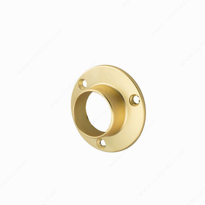 Hangrail ''O'' Flange for 1-5/16'' Diameter Tube - Screw Mount, Matte Brass