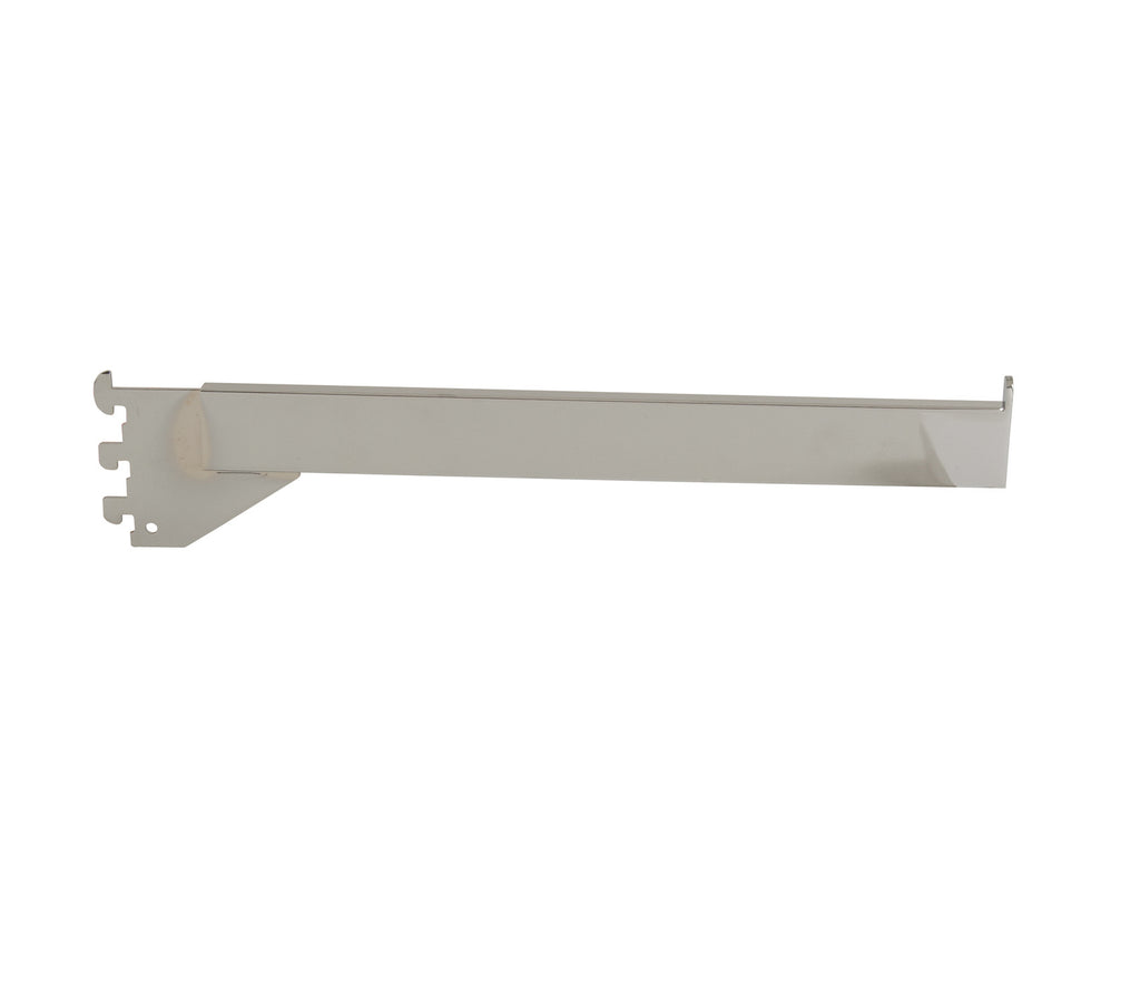"Faceout, for B-line, 14"" Rectangular Tube w/ end stop, Chrome"