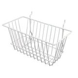 "Capitol Hardware's All Purpose Narrow Retail Display Basket, 12"" x 6"" x 6"", White"