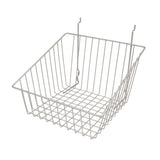 "Capitol Hardware's All Purpose Shallow Front Retail Display Basket, 12"" x 12"" x 8"", Epoxy Chrome"