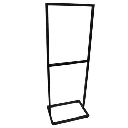 "Bulletin Sign Holder, 22""W X 28""H, Sq Tube Frame & Base, W/ Levelers, Black"