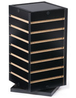 Slatwall Countertop Cube, Rotating, Black