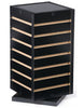 Slatwall Countertop Cube Display Fixture, Rotating, Black