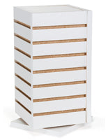 Slatwall Countertop Cube, Rotating, White