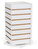 Slatwall Countertop Cube Display Fixture, Rotating, White