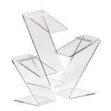 Beveled Edge Z-Shaped Shoe Risers, Set of 3